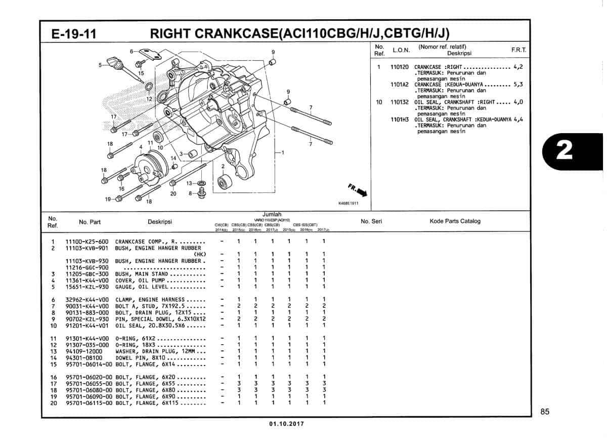 E-19-11-Right-Crankcase-(ACI110CBG-H-J,CBTG-H-j)-Katalog-New-Vario-110