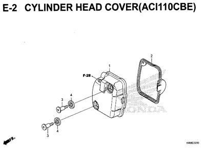 E2 – Cylinder Head Cover (ACI110CBE) – Katalog Honda New Vario 110