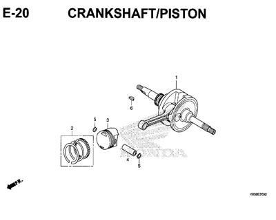 E20 – Crankshaft / Piston – Katalog Honda New Vario 125 K60R