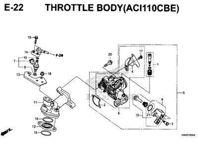 E22 – Throttle Body (ACI110CBE) – Katalog Honda New Vario 110