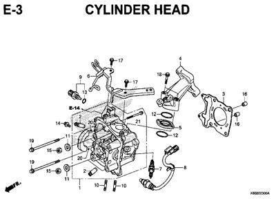 E3 – Cylinder Head – Katalog Honda New Vario 125 K60R