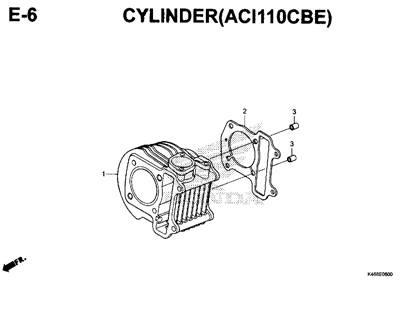 E6 – Cylinder (ACI110CBE) – Katalog Honda New Vario 110