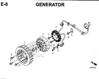 E8 – Generator – Katalog Honda New Vario 110