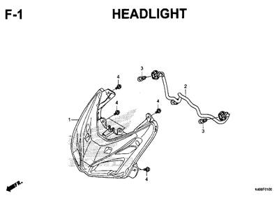 F1 – Headlight – Katalog Honda New Vario 110