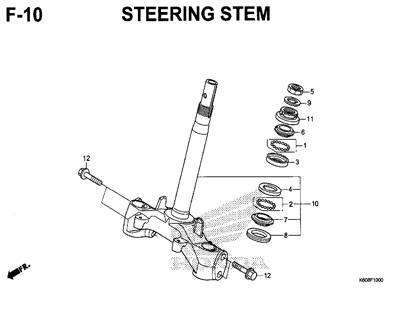 F10 – Steering Stem – Katalog Honda New Vario 125 K60R