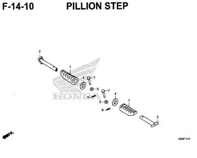 F14-10 – Pillion Step – Katalog Honda New Vario 125 K60R