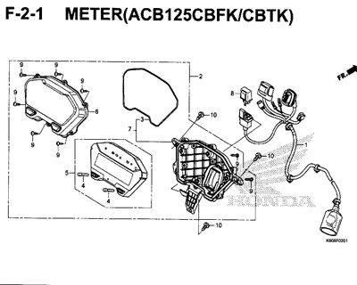 F2-1 – Meter (ACB125CBFK/CBTK) – Katalog Honda New Vario 125 K60R