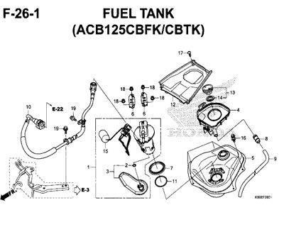 F26-1 – Fuel Tank (ACB125CBFK/CBTK) – Katalog Honda New Vario 125 K60R
