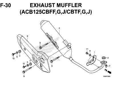 F-30-Exhaust-Muffler-(ACB125CBFF,G,J-CBTF,G,J)-New-Vario-125-K60R