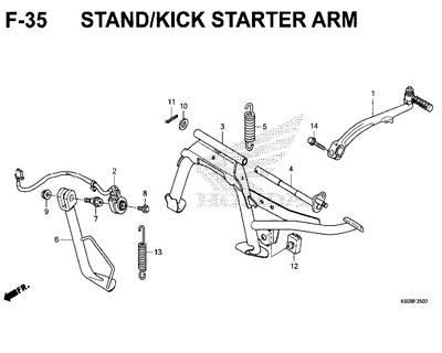 F35 – Stand/Kick Starter Arm – Katalog Honda New Vario 125 K60R