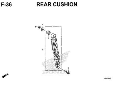 F36 – Rear Cushion – Katalog Honda New Vario 125 K60R