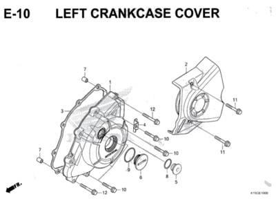 E10 – Left Crankcase Cover – Katalog Honda New CB150R StreetFire K15M