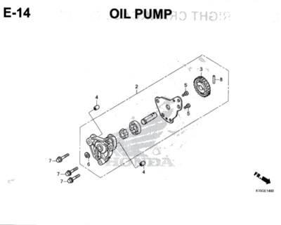 E14 – Oil Pump – Katalog Honda New CB150R StreetFire K15M