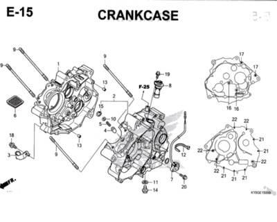 E15 – Crankcase – Katalog Honda New CB150R StreetFire K15M