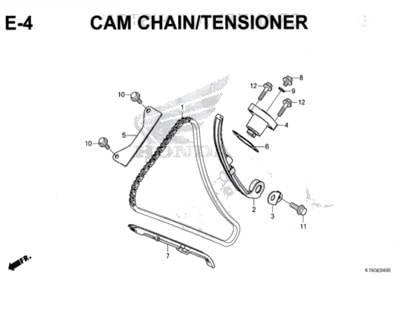 E4 – Cam Chain/Tensioner – Katalog Honda New CB150R StreetFire K15M