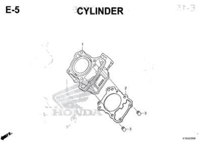 E5 – Cylinder – Katalog Honda New CB150R StreetFire K15M