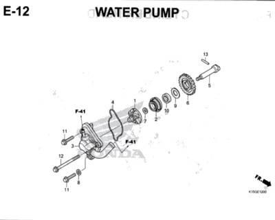 E12 – Water Pump – Katalog Honda New CB150R StreetFire K15M