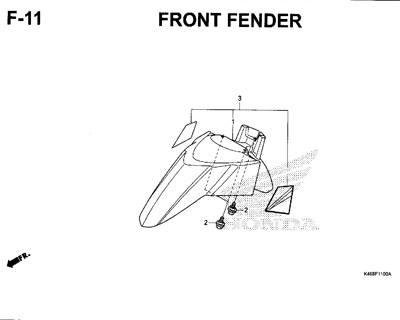 F11 – Front Fender – Katalog Honda New Vario 110