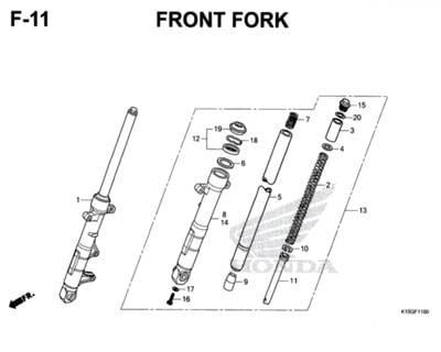 F11 – Front Fork – Katalog Honda New CB150R StreetFire K15M