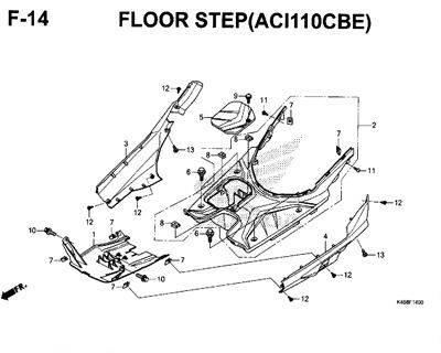F14 – Floor Step (ACI110CBE) – Katalog Honda New Vario 110