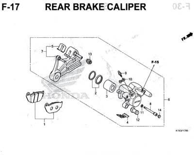 F17 – Rear Brake Caliper – Katalog Honda New CB150R StreetFire K15M