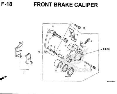 F18 – Front Brake Caliper – Katalog Honda New Vario 110
