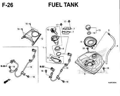 F26 – Fuel Tank – Katalog Honda New Vario 110