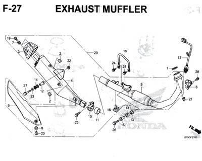 F27 – Exhaust Muffler – Katalog Honda New CB150R StreetFire K15M