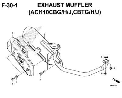 F-30-1-Exhaust-Muffler-(ACI110CBG/H/J,CBTG/H/J)-New-Vario-110