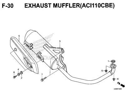 F-30-Exhaust-Muffler-(ACI110CBE)-New-Vario-110