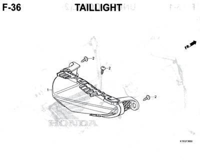 F36 – Taillight – Katalog Honda New CB150R StreetFire K15M