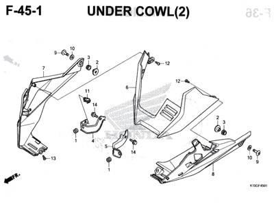 F45-1 – Under Cowl(2) – Katalog Honda New CB150R StreetFire K15M