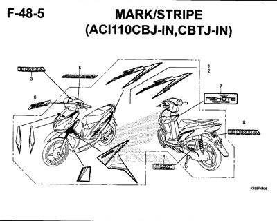 F48-5 – Mark/Stripe (ACI110CBJ-IN,CBTJ-IN) – Katalog Honda New Vario 110