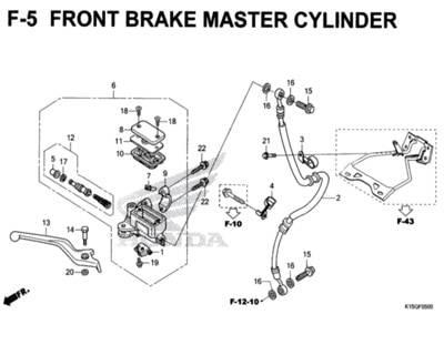 F5 – Front Brake Master Cylinder – Katalog Honda New CB150R StreetFire K15M