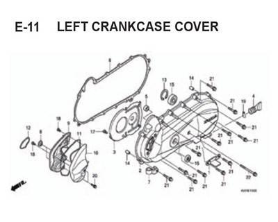 E-11-Left-Crankcase-Cover-BeAT-Karbu