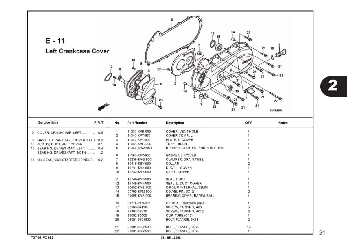 E-11-Left-Crankcase-Cover-Katalog-BeAT-Karbu