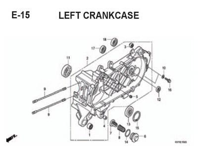 E-15-Left-Crankcase-BeAT-Karbu