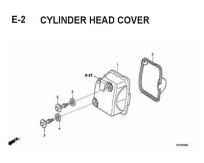 E2 – Cylinder Head Cover – Katalog Honda BeAT Karbu KVY
