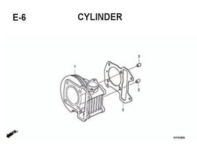 E6 – Cylinder – Katalog Honda BeAT Karbu KVY