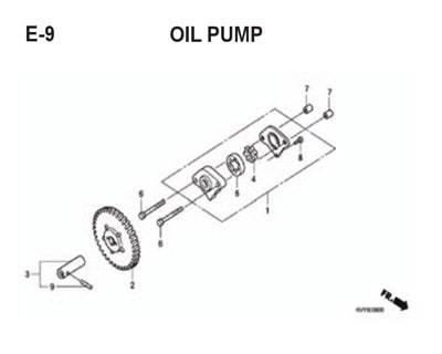 E9 – Oil Pump – Katalog Honda BeAT Karbu KVY