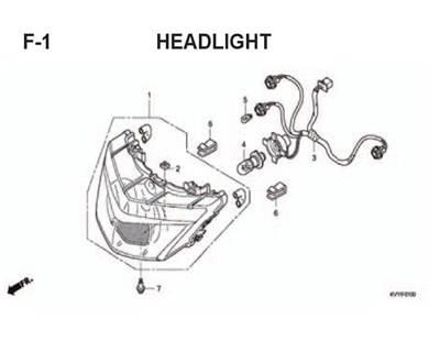 F1 – Headlight – Katalog Honda BeAT Karbu KVY