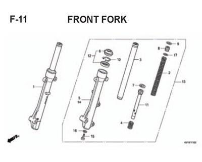 F11 – Front Fork – Katalog Honda BeAT Karbu KVY