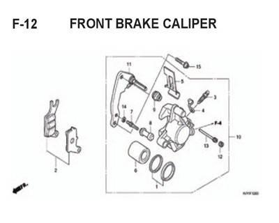 F12 – Front Brake Caliper – Katalog Honda BeAT Karbu KVY