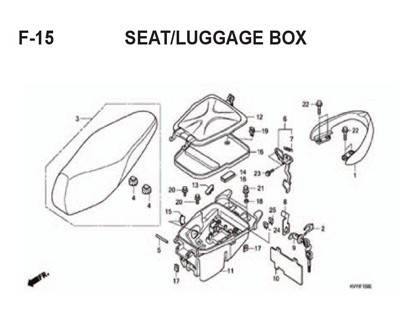 F15 – Seat/Luggage Box – Katalog Honda BeAT Karbu KVY