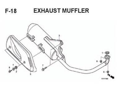 F18 – Exhaust Muffler – Katalog Honda BeAT Karbu KVY