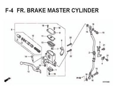 F4 – Fr. Brake Master Cylinder – Katalog Honda BeAT Karbu KVY