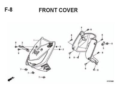 F8 – Front Cover -Katalog Honda BeAT Karbu KVY