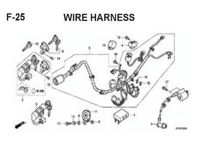 F25 – Wire Harness – Katalog Honda BeAT Karbu KVY