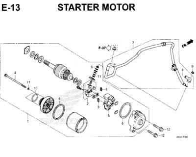 E13 – Starter Motor – Katalog Honda New CBR 150R K45N