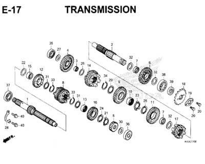 E17 – Transmission – Katalog Honda New CBR 150R K45N